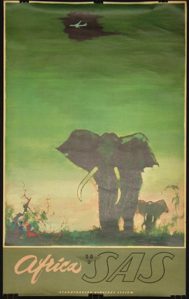 SAS-Africa Airline Poster