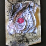 The Target, Mix Media, 17 x 12 inchesManila Paper, Folded Sandwich Wrap Paper,