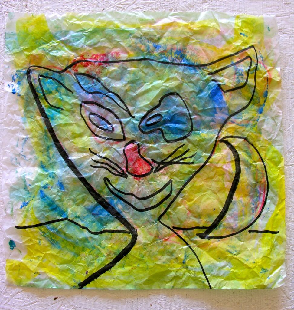 Kit Kat, 12 x 12 Sandwich Wrapping Paper, Mix Med Pen and Ink